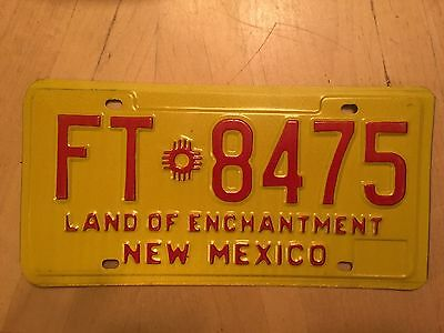 "New Mexico Farm Truck  License Plate "" Ft 8475 "" Nm Farming Farms Agriculture"