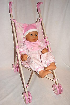 """Soo Sweet! Zapf Creations 19"""" Cloth / Vinyl Baby Doll with Stroller"""