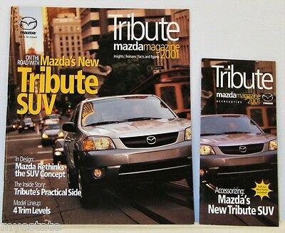 2001 01 Mazda Tribute original sales brochure + Accessories Pamphlet MINT