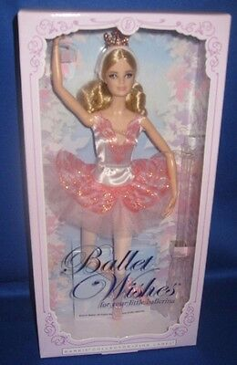 Barbie Collector 4Th Ballet Wishes Barbie Doll, Nrfb Pink Label