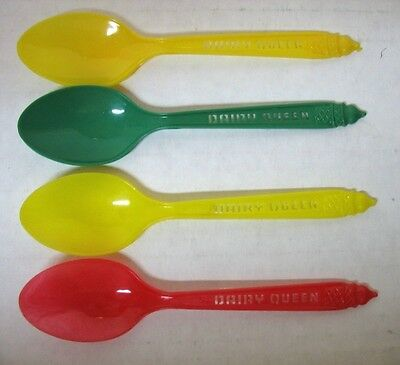 4 Vintage Dairy Queen Ice Cream Spoons