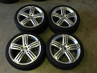 New Gt 18 Inch  Alloy Rims Wheels New Tyres Silver Fits Vw Golf Gti, R Melbourne
