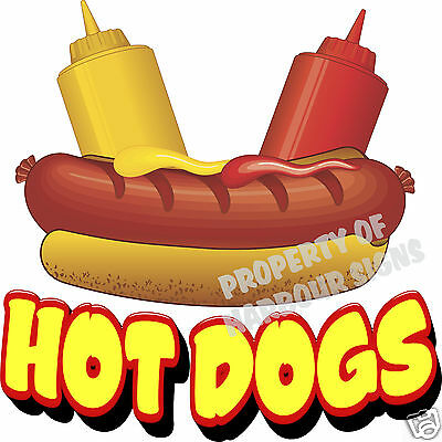 "Hot Dogs DECAL 24"" Hotdogs Restaurant Cart Concession Trailer Food Truck Sticker"