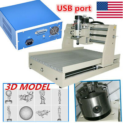 USB 3040T 4 AXIS 400W CNC ROUTER ENGRAVER ENGRAVING CUTTER CARVING Machine+MACH3