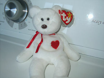 Rare Ty Valentino Beanie Baby  with swnig tag Error has 2 ii with PVC pellets