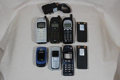 Lot of 6 Old Cell Phones Nokia Motorola Samsung Flip Phone As Is
