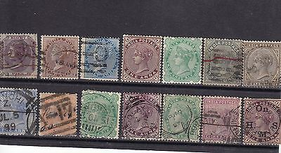 Old India and States stamp assortment