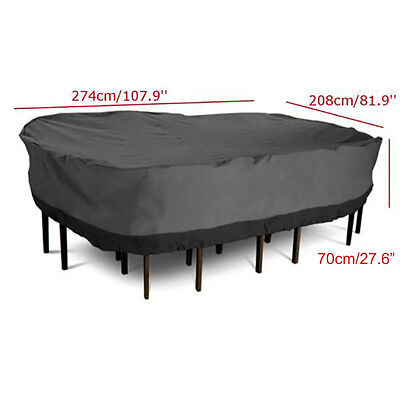 Waterproof Garden Patio Furniture Winter Cover Large Rectangular  Table Chair