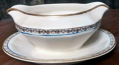 Vintage Edwin Knowles gravy boat with underplate
