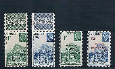 French Guinea - French Colonial - Set Of 4 Old Stamps Mnh ( Guif 465 )
