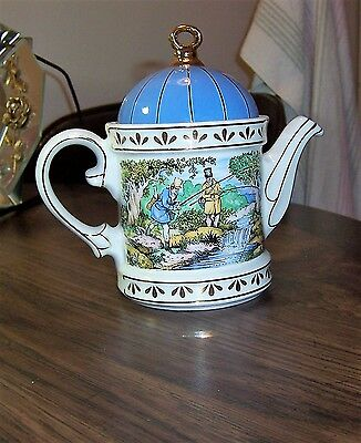 Sadler Teapot Shooting Sporting Scenes of the 18th Century England Gold Trim A+