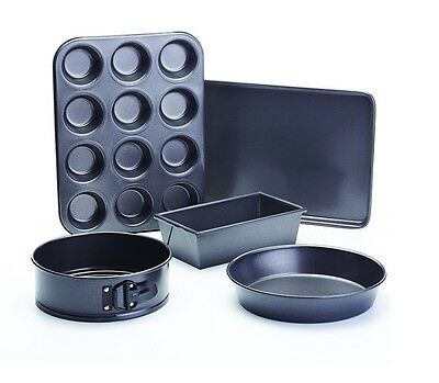 Brand New Masterclass Double Non-Stick Coating Bakeware Pack Of 5