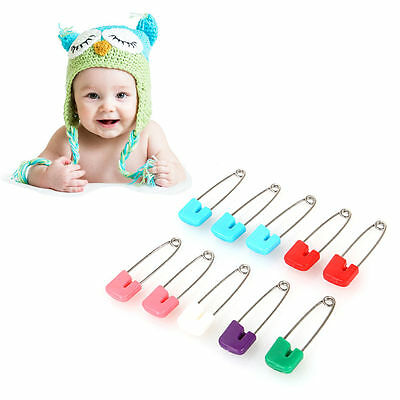 20 Pieces Colorful Craft Safety Pins Hold Locking Baby Dress Clothes Diaper JS