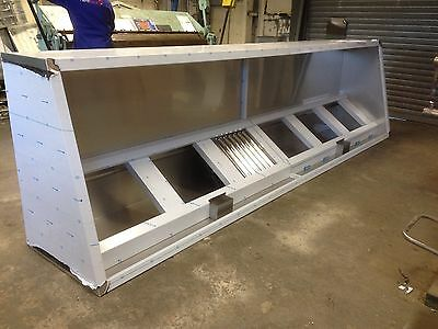 Commercial Kitchen Extraction Canopy / Hood 430ba s/steel Any Size Manufactured