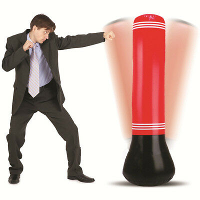 Inflatable Punching Bag Stand Kids Boxing Column Vent bags Tower Speed Training