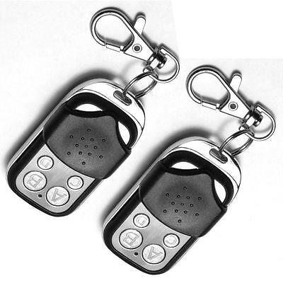 2x Universal Cloning Remote Control Key Fob for Car Garage Door Electric Gate P~