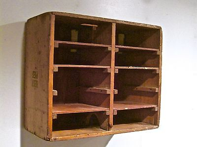 """Antique Used """"Best Pies"""" 10 Removable Shelves Commercial Delivery Pie Safe Case!"""