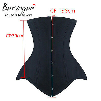 Women Double Steel Bone Underbust Corset Waist Training Corset Bustier