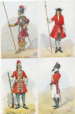 4 Army Military postcards 1684 Grenadier Royal regiment foot