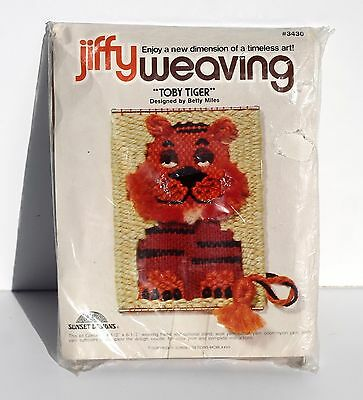 Jiffy Weaving Toby Tiger Sunset Designs #3430
