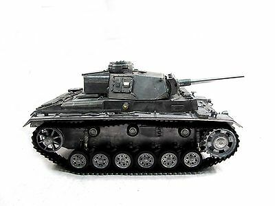 100% Metal 1/16 Mato Panzer III RTR RC Tank Infrared Barrel Metal Color 1223