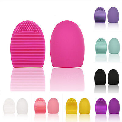 NEW 8Colors Mini Silicone Egg Cleaning Glove Makeup Washing Brush Scrubber Tools