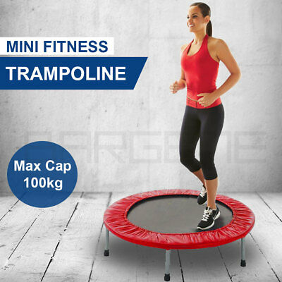 """36"""" Mini Trampoline Jogger Rebounder Home Gym Workout Fitness Outdoor Indoor Red"""