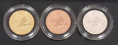 Very rare Lebanon 1993 50th Anniversary of Independence Silver gold bronze coins