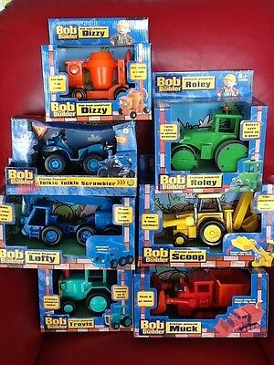 7 BOXED BOB The BUILDER Friction Powered VEHICLES Born To Play 2002VTG Lofty etc