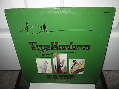 Zz Top Signed Tres Hombres Album Autograph Billy Gibbons Record Beard Proof
