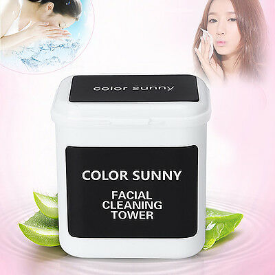 Women Cotton Soft Facial remover wipes deep clean pads Discharge Towelettes 100