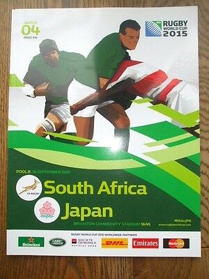 South Africa v Japan Official Programme 2015 Rugby World Cup *Mint Condition*