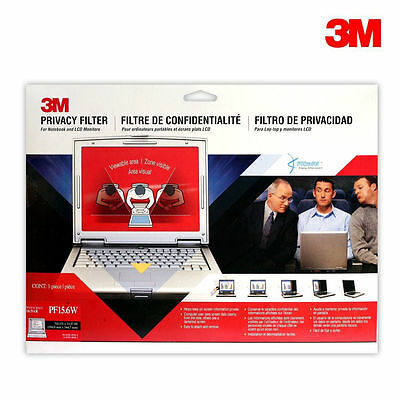 "3M Black Privacy Filter For Widescreen Notebooks 17.3"" 16:9 Full PF17.3W9 New"