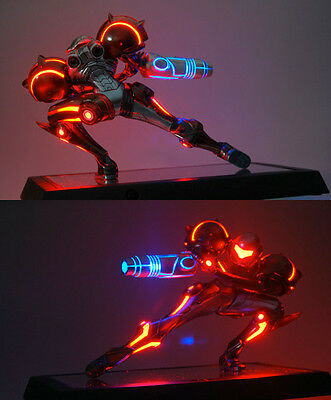 Nintendo Metroid Prime Led Statue Phazon Suit Neu Limited Rar With Lights Led