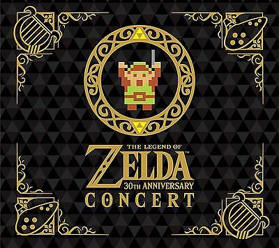 """""""Pre"""" The Legend of Zelda 30th Anniversary Concert 2CD+DVD Limited Edition Japan"""
