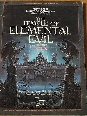 Dungeon and Dragons Module T1-4 the Temple of Elemental Evil
