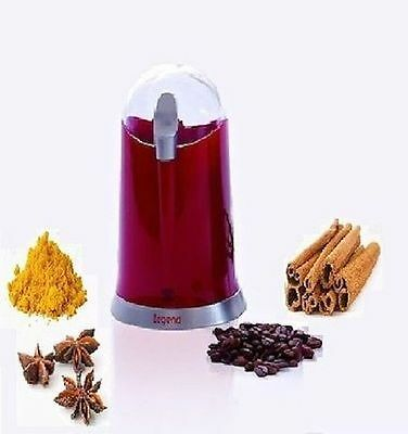 Legend Electric Coffee Bean Grinder Mill Latte 160W Bean Nut Spice Grinder Red