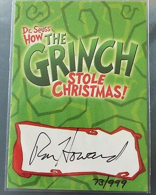 RON HOWARD AUTOGRAPH CARD THE GRINCH DR SEUSS/Happy Days