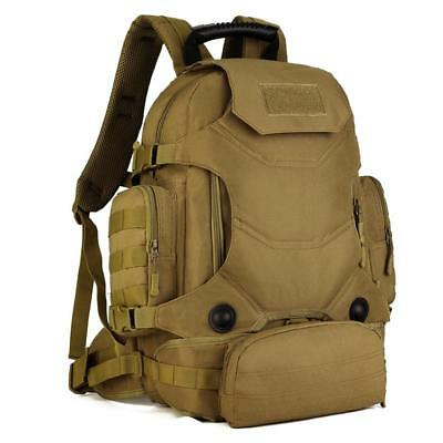 Brown Tactical Backpack Rucksack Outdoor Survival Backpacking Hunting