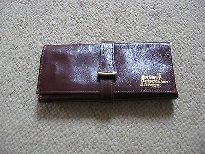 Calf Leather Jewellery Travel Pouch Bag Organiser British Caledonian Bcal
