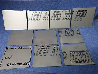 Lot of 10 plates INCONEL 625 3.65'' x 3.14'', thickness .050''
