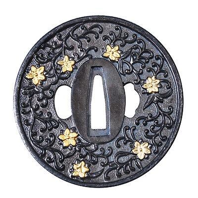 high quality Japanese zinc alloy tsuba accessory for Japanese Katana Wakizashi
