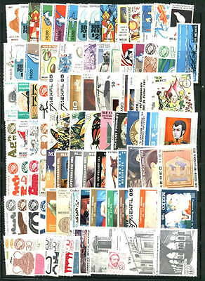 Mexico Mint Stamp Collection 100 Different MNH Commemorative type pictorials