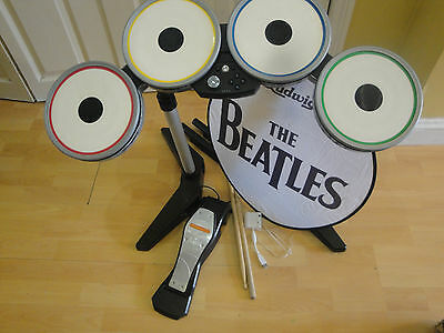 wii The Beatles Rock Band  Limited Edition Premium  drum kit (drum, pedal+ logo)