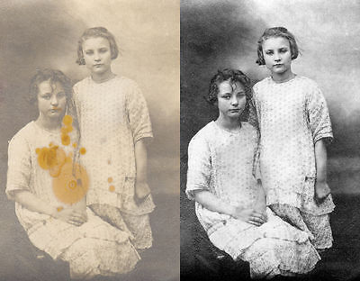 Professional Photo Restoration services, fix, restore and colour