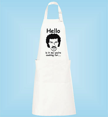Hello Is It Me You're Cooking For Lionel Ritchie Funny Kitchen Cooking Apron