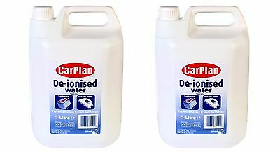 Carplan De-Ionised Water Battery & Iron Top Distilled 10 Litre (2x5l) Deionised