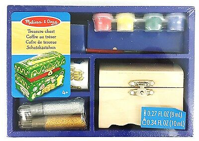 Melissa & Doug Treasure Chest - Decorate Your Own Creative Activity Wooden Toy
