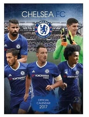 Chelsea FC Football Club Calender 2017 Fan Soccer Players Official