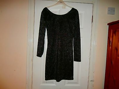 Size 12 Glitter Black Dress/top Bnwt Atmosphere /primark